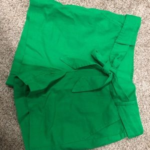 J. Crew Green Shorts NWT